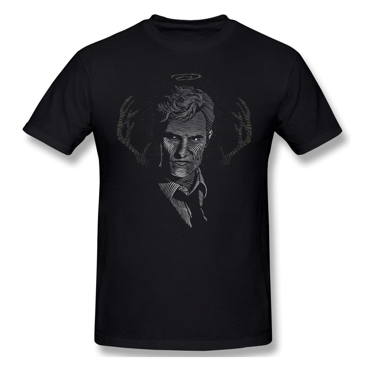 Camiseta negra de la serie de TV americana para hombre, Camiseta de...