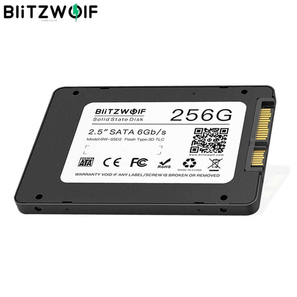 "BlitzWolf BW-SSD2 256GB 2,5 ""sta3 6Gbps R/W a 520/430 MB/s disco de estado sólido TLC Chip disco duro interno para ordenador SATA y ordenador portátil"