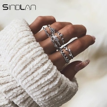 Sindlan7PCs pleine couronne de cristal couleur argent bague de mariage ensemble olivier branche anneaux pour les femmes fête fiançailles mariée doigt bijoux