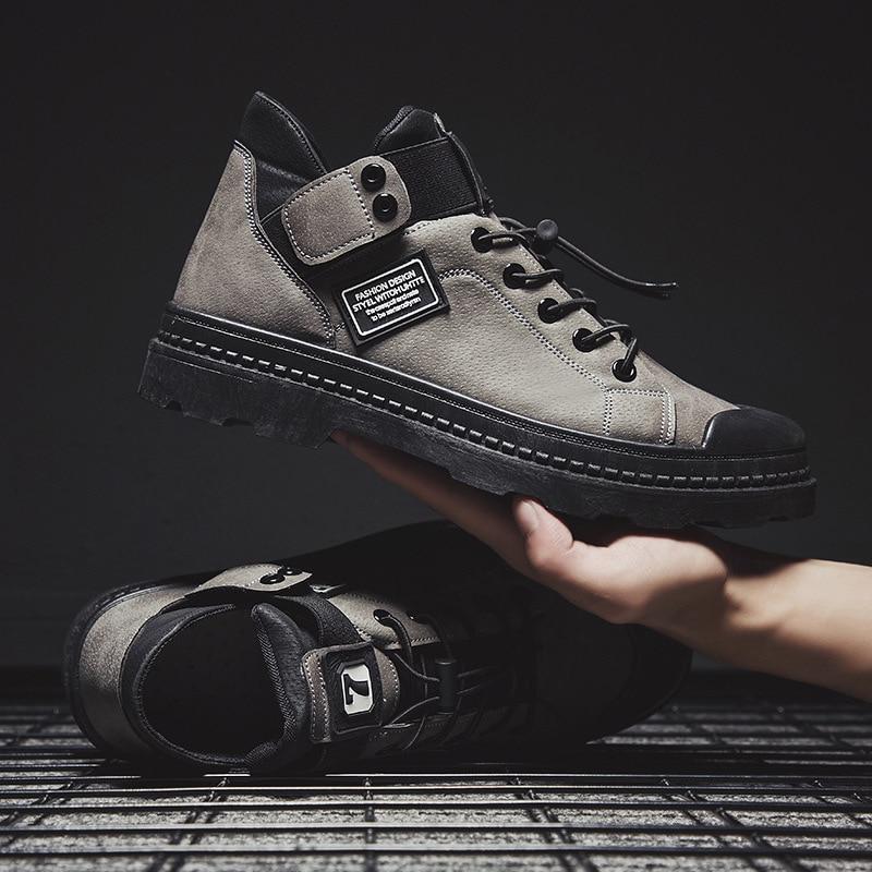 Leather Men Casual Shoes British Style Comfortable Men Fashion Walking Shoes Big Size Brown Black Man Soft Flat Footwear Zapatos