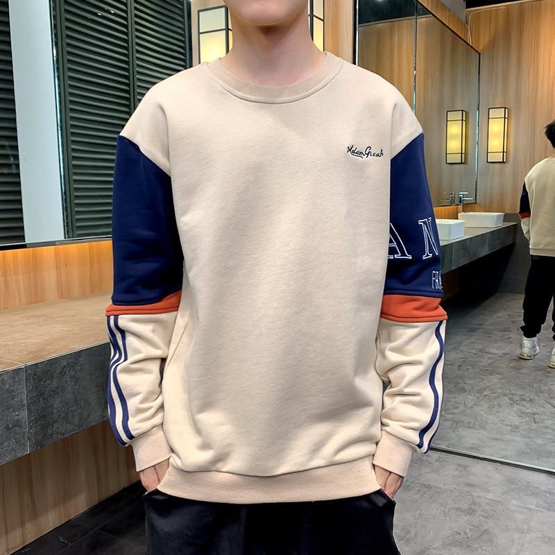 Новинка 2021, мужской свитер с длинным рукавом, корейские мужские топы, молодежные куртки, модные Универсальные мужские тренды