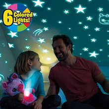 Проектор звездный Ночной светильник, лампа для живота, плюшевая игрушка, проектор звездной Галактики, подарок на день рождения, украшение д...