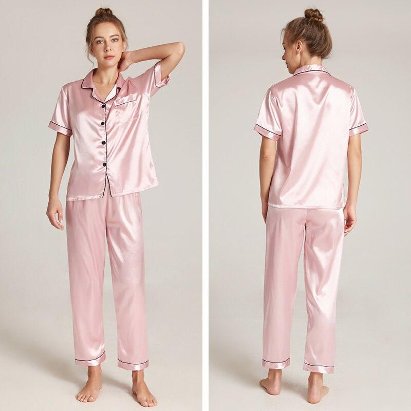 Women Pajamas Sets Plus Size Silk Women's Pyjamas Pajamas For Women Sleepwear Female Home Clothes Su