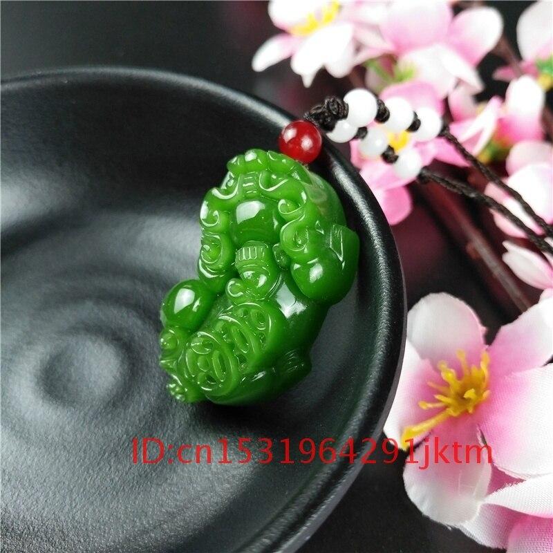 Natürliche Geschnitzte Pixiu Grün Schmuck Frauen Jade Jadeit Amulett Mode Anhänger Chinesische Geschenke Charme für Männer Halskette Hand