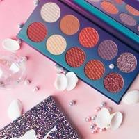 10 color mermaid pearlescent eyeshadow palette matte waterproof eye board cute makeup palette cheap womens cosmetics lasting