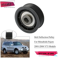 ZUK V-Ribbed Belt Tensioner Pulley Deflection pulley For Mitsubishi Pajero Shogun Montero V73 2001 2002 2003 2004 2005 2006