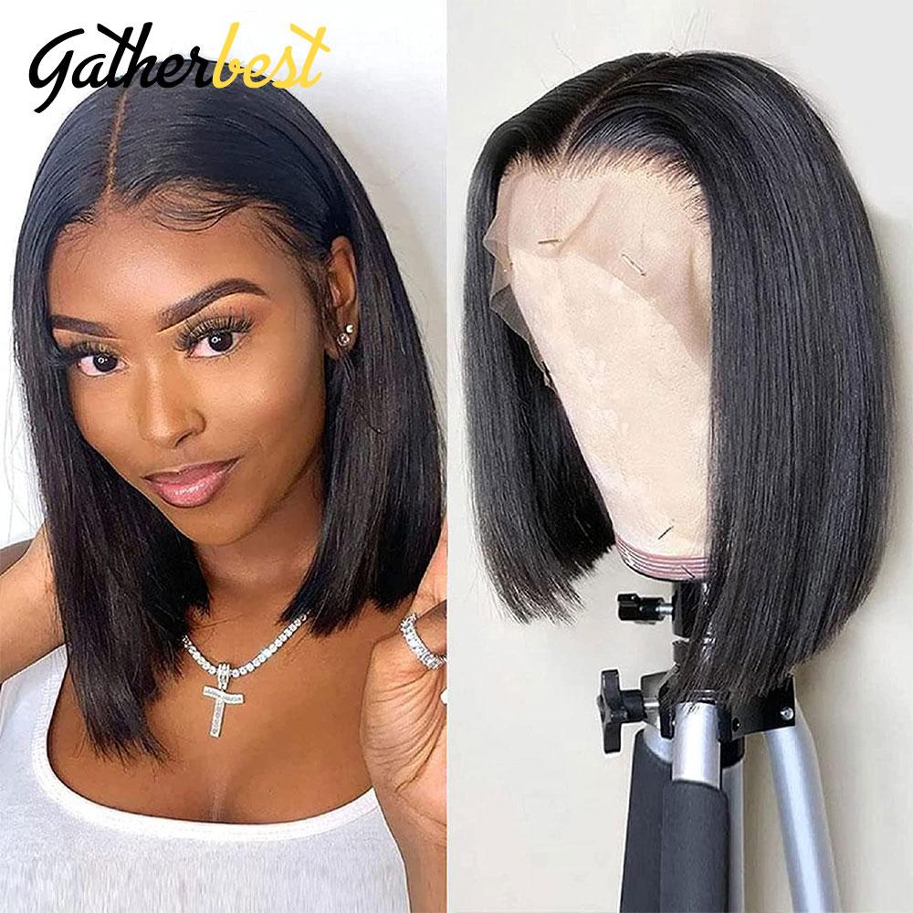 10 Inch Short Bob Wigs bob wig lace front human hair wigs 4x4 Lace Front Human Hair Wigs glueless full lace wigs for women