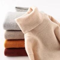 100 merino wool women turtleneck sweater 2020 autumn winter warm soft knitted pullover femme jumper women cashmere sweater