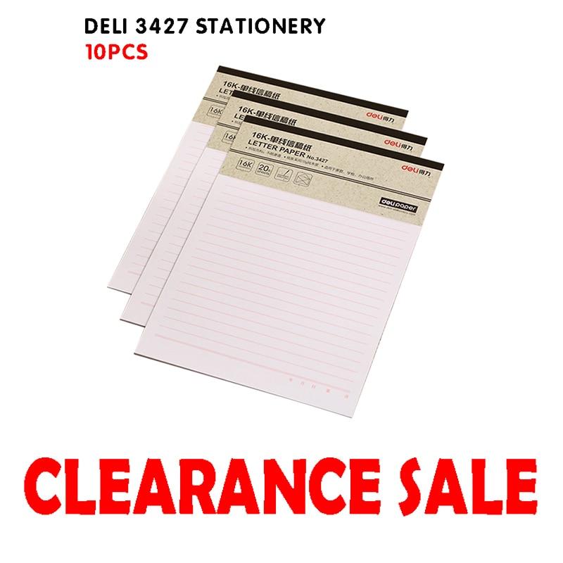 Фото - Deli 3427 Stationery, 10pcs Letterhead, Manuscript, 16K Single Line Stationery, Paper Office Stationery originale 3427 130 20 57 27