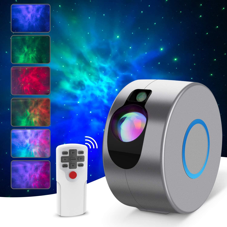 ضوء ليلي LED مع جهاز عرض Galaxy ، ضوء ليلي دوار ، يلوح بالماء ، لمشغل الموسيقى ، مصباح غرفة النوم ، جهاز عرض Galaxy ، هدية للأطفال