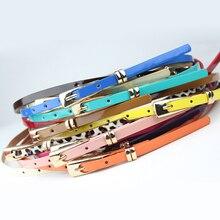 Cinturón fino de cuero sintético para mujer, cinturón de cintura en 8 colores, rojo, marrón, negro, blanco y amarillo, venta al por mayor