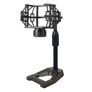 Desktop Microphone Stand Microphone Stand Weighted Base with Shock Mount Adjustable for Radio Broadcast Reacording