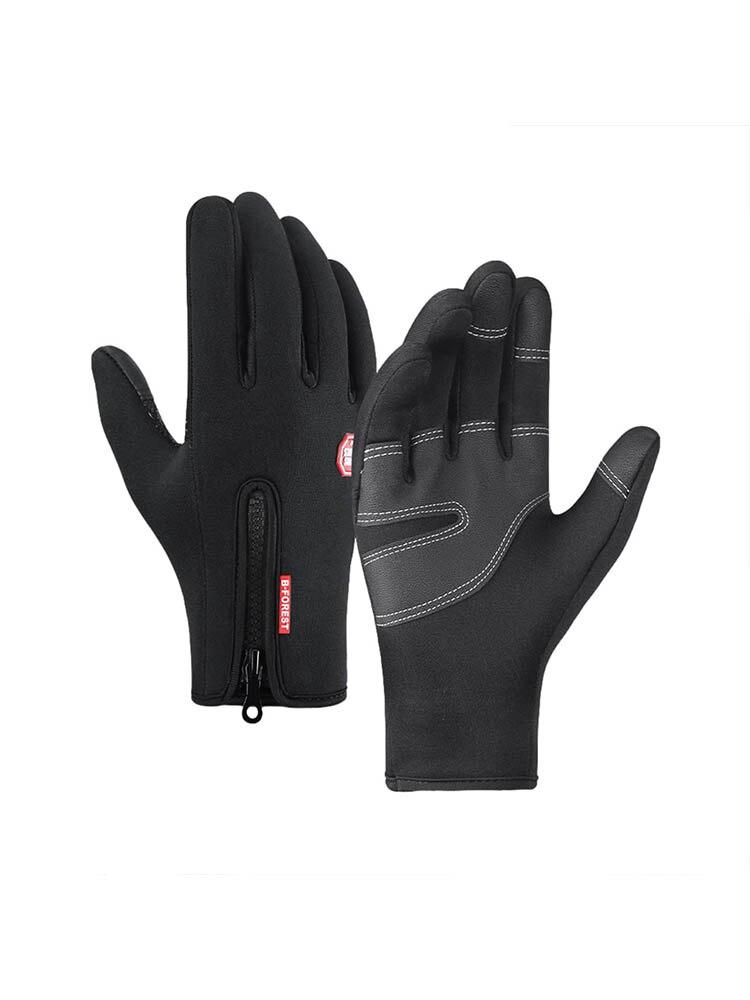 Осенне-зимние теплые перчатки для верховой езды уличные спортивные мужские бархатные теплые лыжные ветрозащитные зимние рыболовные снаря...