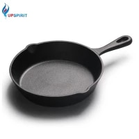 upsipirit 26cm cast iron frying pan non stick coating pan for pancake skillet with heat resistant handle gas induction cooker