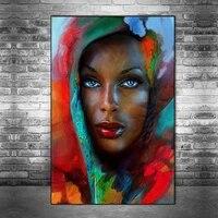 Toile dart abstrait mode africaine femme noire  affiches et imprimes dart sur le mur  photos dart pour decor de maison