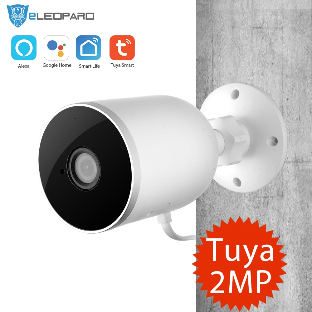 ELEOPARD Tuya Smart leben WiFi Outdoor Kamera 1080P Home Security WiFi Kamera Google/Alexa für option