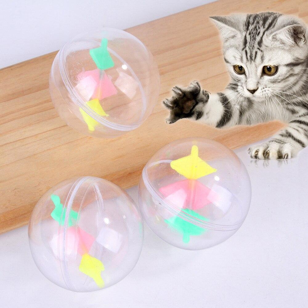 ¡Nuevo! 3 uds. De pelota de juguete de plástico transparente para hacer ejercicio para mascotas