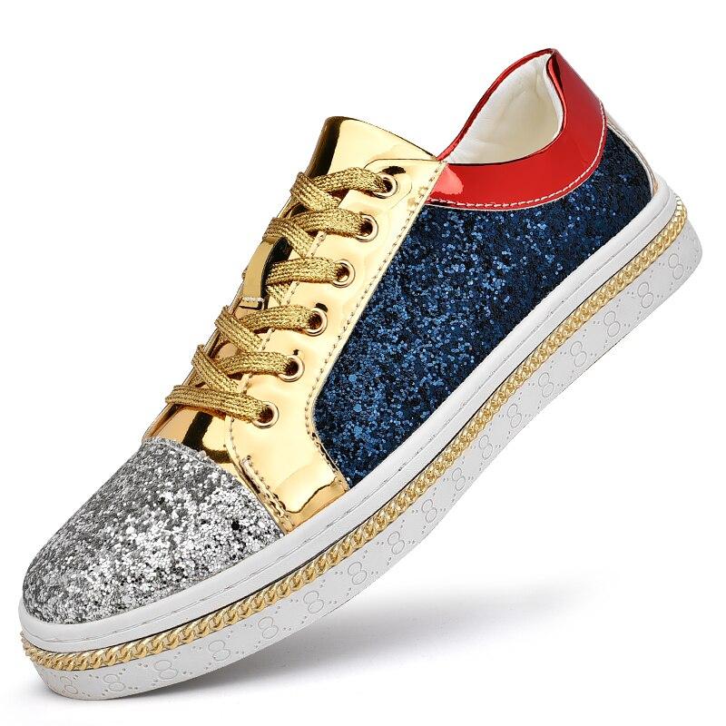 موضة أحذية رياضية الرجال الذهب الشظية تنفس أحذية رجالي عادية مصمم حذاء مسطح الذكور الفاخرة 2021 مشرق أحذية zapatos hombre
