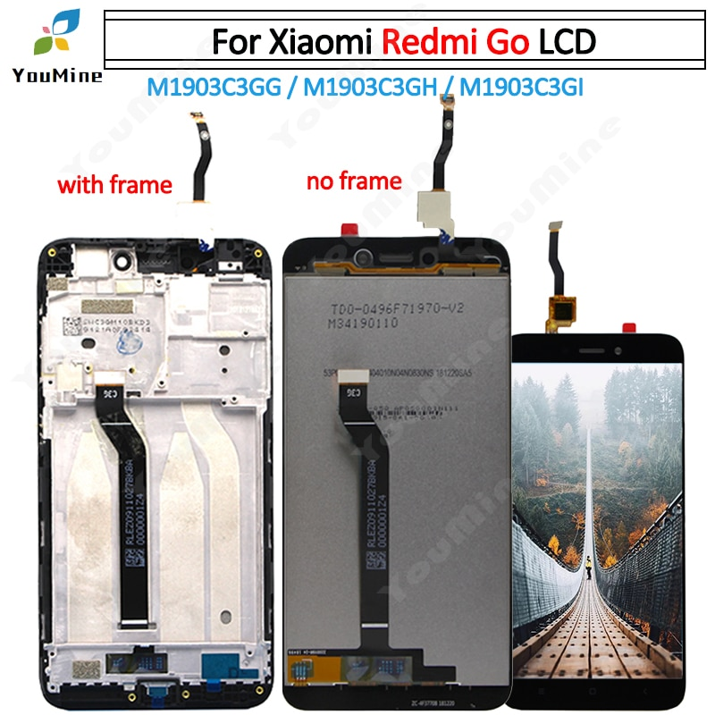 Pantalla LCD Original de 5,0 pulgadas para Xiaomi Redmi Go, pantalla LCD + ensamblaje de digitalizador táctil para REDMI GO Display M1903C3GG M1903C3GH M1903C3
