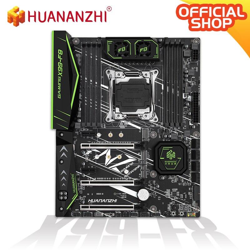 HUANANZHI X99 F8 X99 Motherboard with MOS FanIntel XEON E5 LGA2011-3 All Series DDR4 RECC NON-ECC memory NVME USB3.0 ATX Server