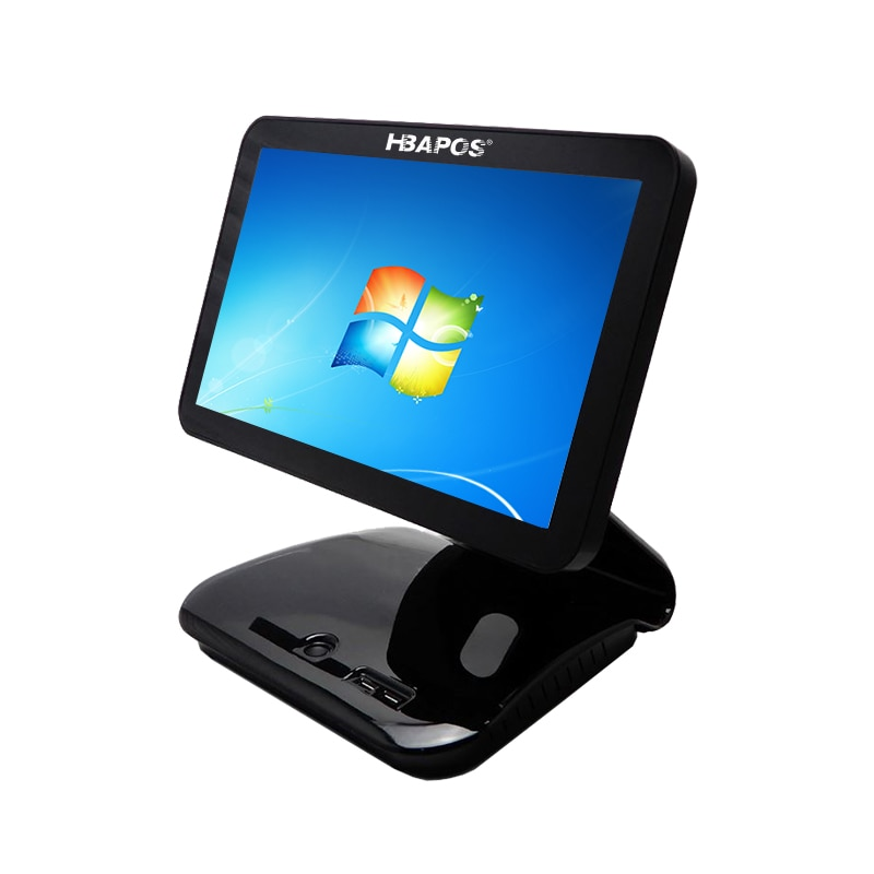 POS System Terminal Machine 15'' Touch Screen LCD Monitor Display with Small Customer Display Cash Register for retails