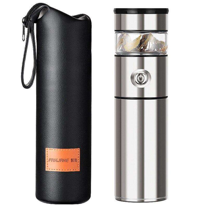 316 ترمس من الفولاذ المقاوم للصدأ مع الشاي Infuser 500 مللي الزجاج الشاي كوب قارورة عازلة القدح فراغ كأس زجاجة قوارير كوب حراري زجاجة ماء