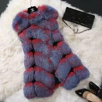 nice fox fur pullover sleeveless regularly casacos femininos fur vest coat diamond of a pop female vest