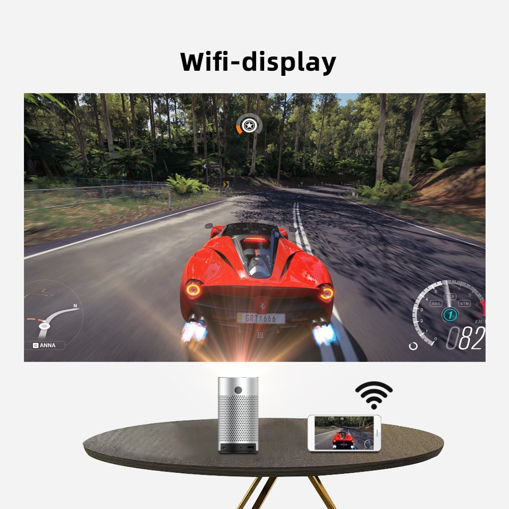 BYINTEK P7 Pocket Portable Pico Smart Android Wifi 1080P 4K TV LAsEr Mini LED Home Theater DLP Projector for Smartphone