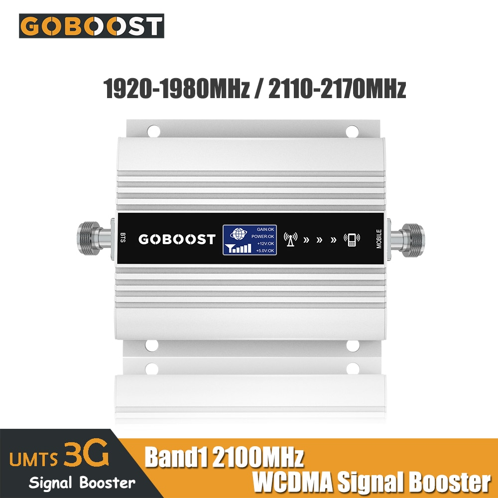 Amplificador de sinal de celular 3g, repetidor de sinal, amplificador de sinal de 2100mhz, banda 1, display lcd b1