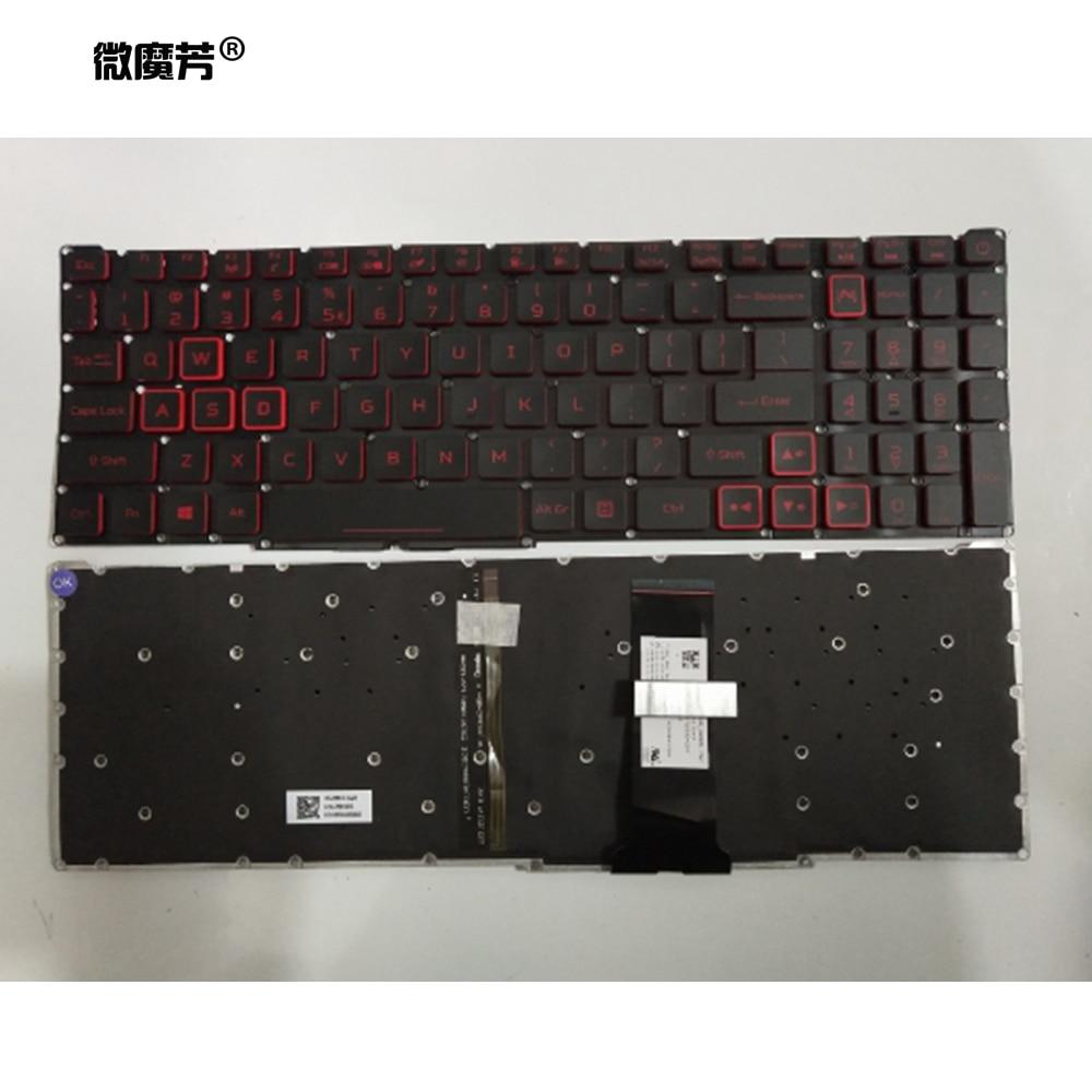 Клавиатура для ноутбука США LG5P для acer Nitro 5 AN515 54 AN515-54 Nitro7 Nitro 7 AN715 51 AN715-51 Клавиатура для ноутбука с подсветкой