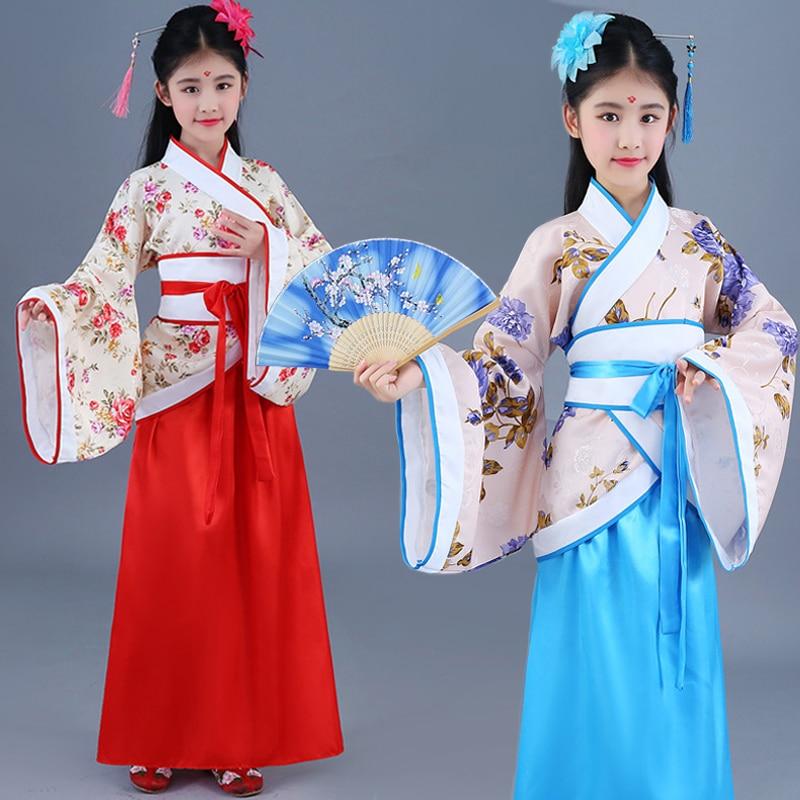 Girls Costume Hanfu Children Princess Royal Chinese Style Court Costume Cosplay Stage Performance Costume недорого