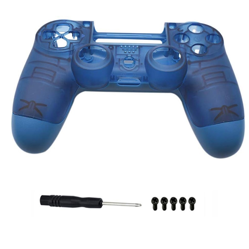 Carcasa transparente azul PS4 PRO reemplazo de la carcasa de la placa frontal para Playstation 4 Dualshock 4 Pro 4,0 V2 controlador JDM 040 JDS 040