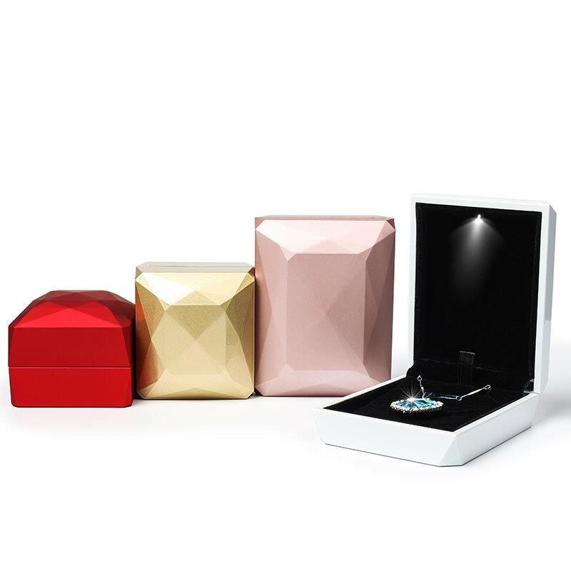 Шкатулка для хранения ювелирных изделий кольца коробки для упаковки подарков: модные мужские Хайтопы со светодиодами, светильник