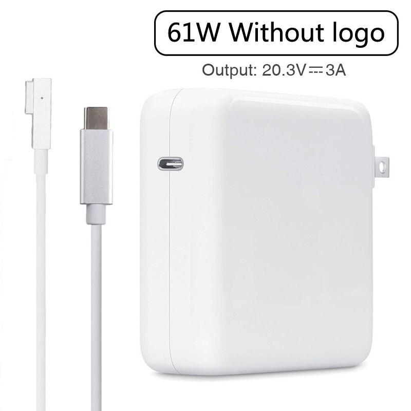 """L Tip Magnetische Laptop USB-C Power Adapter Draagbare Oplader Voor Apple Macbook Pro 13 """"11"""" 15 """"17"""" (Vóór 2012)"""