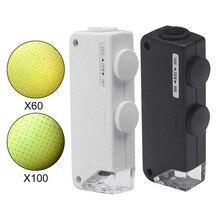 Nouvelle qualité poche 160X 200X grossissement Zoom Len LED lampe de poche lampe de poche Microscope Loupe Offre Spéciale