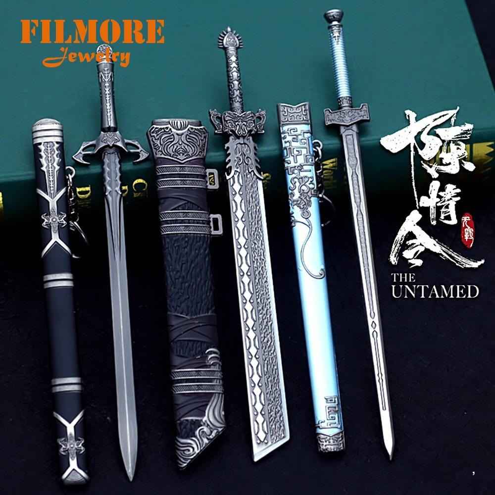 Grandmaster of Demonic Cultivation брелок Wei Wuxian Yin Hu Fu, модель оружия, брелок для мужчин и женщин, подвеска, ювелирное изделие