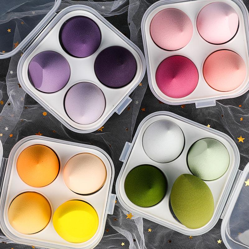 4 unids/set cosméticos Puff suave belleza esponja para base de maquillaje en polvo cosméticos mezcla las mujeres herramientas accesorios esponjas