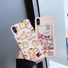 GYKZ de dibujos animados lindo mi melodía Judy funda para teléfono para iPhone XS MAX X XR 8 7 6 6s Plus rosa de silicona suave cubierta chica Fundas Coque