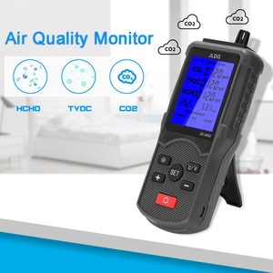 Multifunctional Air Quality Tester CO2 TVOC Meter Temperature Humidity Measuring Device Antijamming Ability, Low Consumption