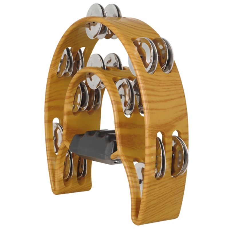 Tambourine Percussion Musical Instruments Hand Bell for Party Compact Half Moon Drum Tambourine enlarge