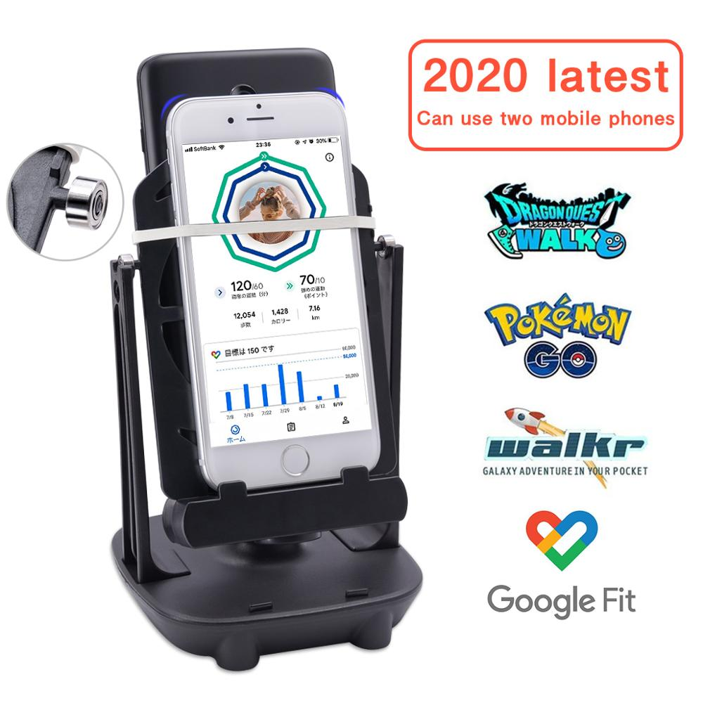 Lefon Phone Walking Swing Shaker Mobile Stand Holder Pedometer Brush Stepper for Pokemon Go Phone Wi