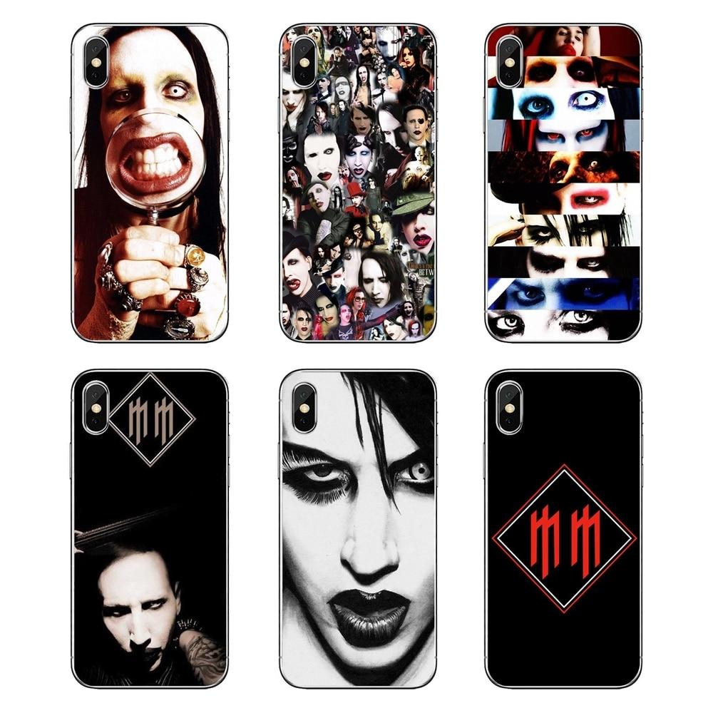 Marilyn Manson Para Samsung Nota Galáxia 8 9 S9 S10 A8 A9 Star Lite Plus A6S A9S Casca Mole Transparente cobre