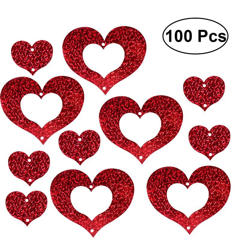 100 Uds corazón guirnalda globo colgante decoración boda cumpleaños matrimonio propuesta fiesta suministros