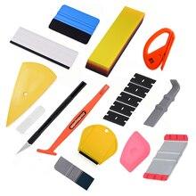 FOSHIO, revestimiento para coche de vinilo, pegatina magnética, palo, escurridor, Kit de herramientas, película de lámina de fibra de carbono, revestimiento para coche, accesorios ping