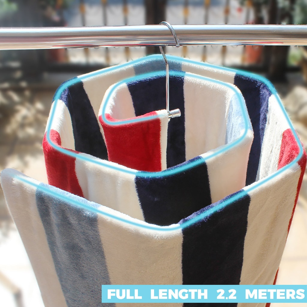 Drying Rack Spiral Shaped Hanger Rotating Storage Rack Quilt Blanket Rack Drying Rack Spiral Shaped Hanger Rotating Quilt