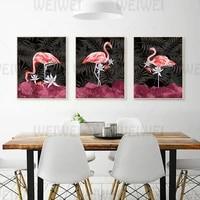 Affiche murale en toile de flamand rose  decoration de maison  animaux oiseaux  moderne  a la mode  pour salon  chambre a coucher  cafe  imprimes de decor