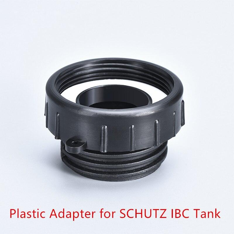 Black Polypropylene plastic IBC Tank Adapter 62mm fine teeth to 54mm coarse teeth  Valve fitting Tap Connector