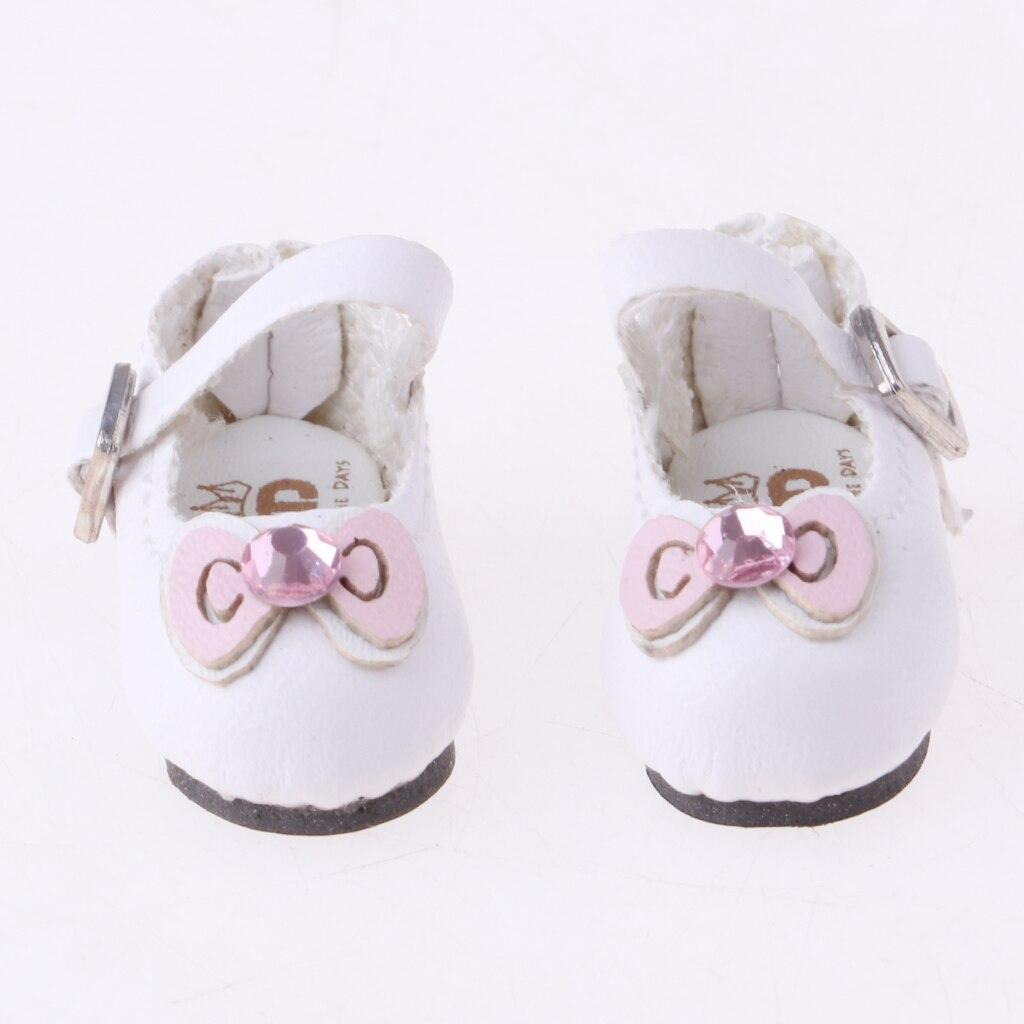 Высококачественная Белая Кожаная Мини-обувь для 1/6 Blythe Licca азон тело куклы