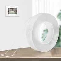Nano ruban adhesif Double face  adhesif reutilisable  resistant a leau  30m  pour cuisine et salle de bain