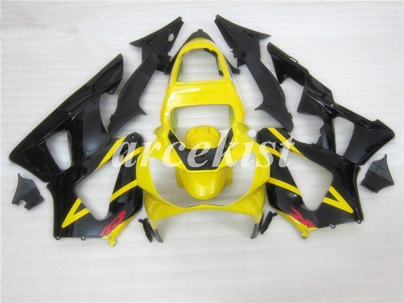 Nuevo kit de carenados de motocicleta ABS para HONDA cbr929hr 929 2000 2001 cbr900hr 00 01 CBR 900hr conjunto de carrocería amarillo personalizado negro